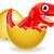 cartoon dinosaur hatching from egg stock photo © krisdog