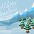 montanha · cena · ilustração · neve · verde · inverno - foto stock © krisdog