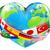 heart globe with flags stock photo © krisdog