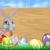 cartoon easter bunny sign stock photo © krisdog