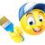 malarz · szczotki · strony · szczęśliwy · pracownika · cartoon - zdjęcia stock © krisdog