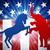 vita · illusztráció · szamár · elefánt · szimbólumok · szavazás - stock fotó © krisdog