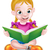 девушки · сидят · чтение · книгах · кресло · внимательный - Сток-фото © krisdog