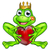 cartoon frog prince with love heart stock photo © krisdog
