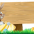 Cartoon Easter Egg Bunny Sign stock photo © Krisdog