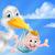 rajz · gólya · madár · állat · karakter · boldog - stock fotó © krisdog