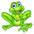 cartoon frog pointing stock photo © krisdog