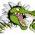 крокодила · аллигатор · стены · Cartoon · голову - Сток-фото © krisdog