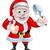 cartoon santa giving thumbs up holding trowel spade stock photo © krisdog