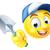 gardener emoticon emoji with trowel stock photo © krisdog