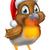 christmas · teken · illustratie · vogel · hoed - stockfoto © krisdog