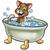 kat · bad · huisdier · haren · Blauw · grappig - stockfoto © krisdog