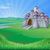 landschap · hemel · boom · wolken · blad · groene - stockfoto © krisdog