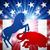 măgar · elefant · american · alegere · politică · animal - imagine de stoc © krisdog