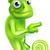 pointing cartoon chameleon stock photo © krisdog