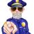 öfkeli · polis · karikatür · polis · memuru · mavi · İrlandalı - stok fotoğraf © krisdog