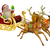karácsony · mikulás · lovaglás · szánkó · égbolt · férfi - stock fotó © krisdog