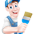 cartoon painter decorator stock photo © krisdog