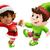 christmas elves dancing stock photo © krisdog