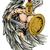 anjo · ilustração · guerreiro · esportes · mascote - foto stock © krisdog