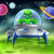 cartoon alien ufo flying saucer on planet stock photo © krisdog