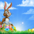Easter · Bunny · ei · jacht · cartoon · bunny - stockfoto © krisdog