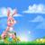 Easter · Bunny · ei · jacht · cartoon · Pasen · scène - stockfoto © krisdog