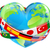 earth day heart with flags stock photo © krisdog