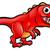 Cute · динозавр · Cartoon · улыбаясь · тело · модель - Сток-фото © krisdog