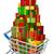 Noel · sepet · örnek · şarap · hediyeler · top - stok fotoğraf © krisdog