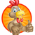 cute cartoon chicken stock photo © krisdog