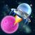 cartoon alien space ship flying saucer stock photo © krisdog