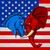 elephant donkey democrat republican fight stock photo © krisdog
