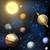 vetor · realista · sol · planeta · ilustração · colorido - foto stock © krisdog
