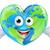 earth day heart world cartoon character stock photo © krisdog