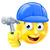 handy man carpenter builder emoji emoticon stock photo © krisdog