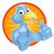 niebieski · Język · zabawy · zwierząt · prezentacji · uśmiechnięty - zdjęcia stock © krisdog
