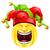 клоуна · смайлик · Cartoon · характер · красный - Сток-фото © krisdog