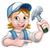 woman carpenter holding a hammer stock photo © krisdog