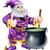caldeirão · desenho · animado · arte · retro · desenho · bruxa - foto stock © krisdog
