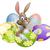 lapin · œufs · de · Pâques · illustration · lapin · de · Pâques · coloré · printemps - photo stock © Krisdog