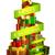 złoty · christmas · star · zielone · świetle · wybuch - zdjęcia stock © krisdog