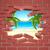 tropikal · plaj · duvar · görünür · arkasında · beyaz · tuğla · duvar - stok fotoğraf © krisdog