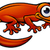gelukkig · cartoon · gekko · illustratie · naar - stockfoto © krisdog