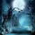 dolunay · halloween · gece · karanlık · mezarlık - stok fotoğraf © krisdog