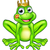 cartoon frog prince kiss stock photo © krisdog