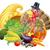 zarándok · kalap · sütőtök · rajz · hálaadás · férfi - stock fotó © krisdog