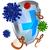 kalkan · koruma · virüs · imzalamak · vektör - stok fotoğraf © krisdog