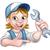 opony · maskotka · charakter · klucz · mechanik - zdjęcia stock © krisdog