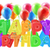 léggömbök · fejléc · dizájn · elem · születésnapi · buli · boldog · tájkép - stock fotó © krisdog